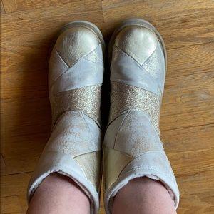 UGG Glitter Patchwork Short Boot | 9